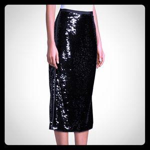 Weekend Max Mara Tartina Sequined Pencil Skirt